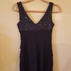 Sequin royal blue cocktail dress